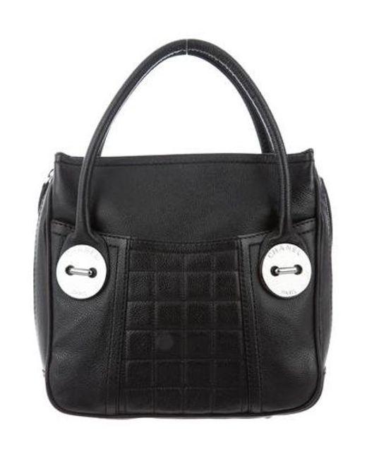 a72f590b576d Chanel - Black Square Quilt Handle Bag - Lyst ...