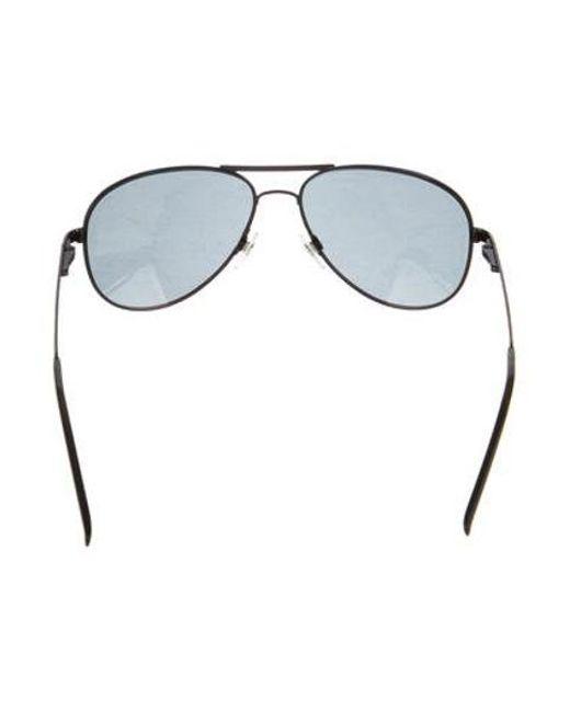 897192695af4 ... Chanel - Black Embellished Aviator Sunglasses - Lyst ...