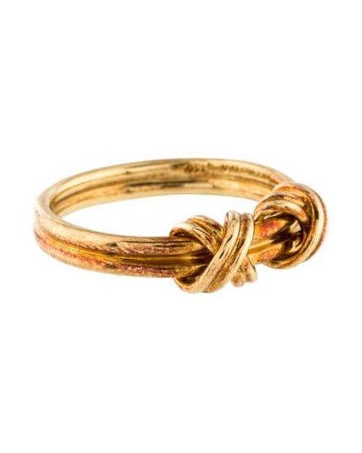 ac083bdb36428 Women's Metallic 18k Double X Ring Yellow