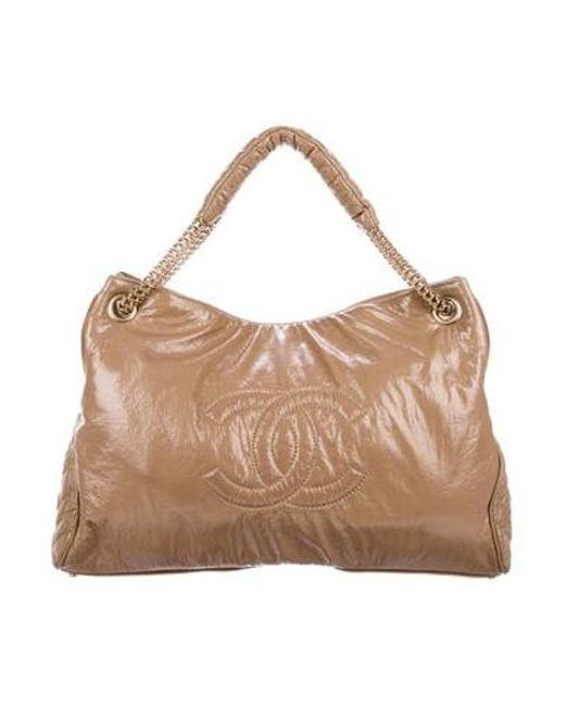 18d06a425654 Chanel - Metallic Rock And Chain Hobo Tan - Lyst ...