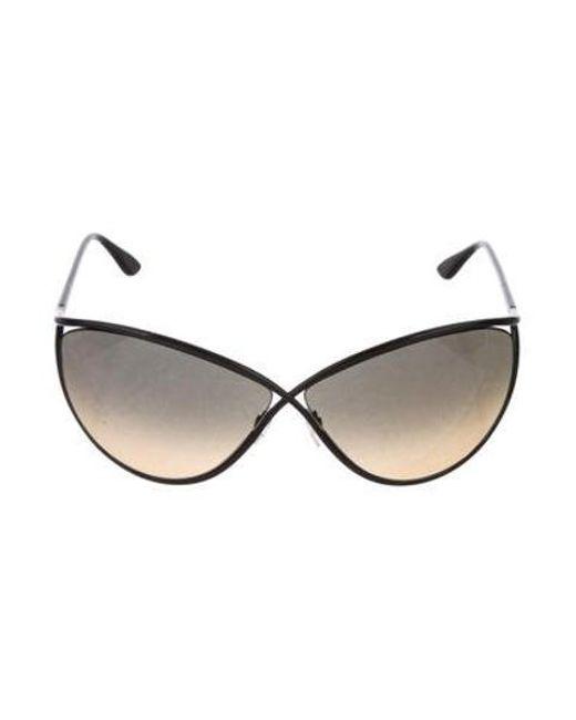 62f5ebf57d8d5 Tom Ford - Metallic Narcissa Oversize Sunglasses W  Tags Black - Lyst ...