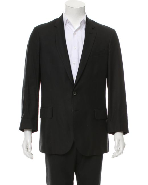 Roberto Cavalli - Black Virgin Wool Two-button Blazer for Men - Lyst