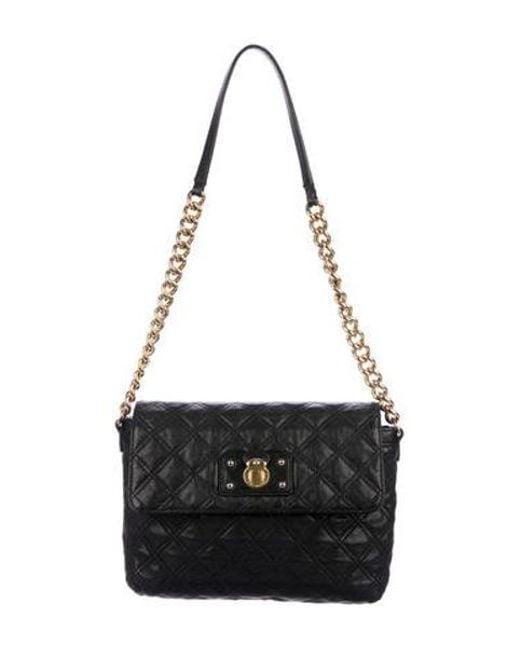 04b50b6b3c9 Michael Kors - Metallic Quilted Leather Shoulder Bag Black - Lyst ...