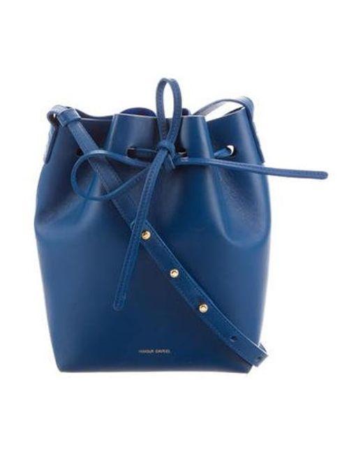 Mansur Gavriel Metallic Leather Bucket Bag Royal Lyst