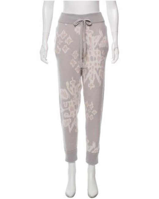 Lyst Baja East Cashmere Patterned Joggers Grey In Gray Awesome Patterned Joggers