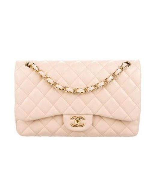 Chanel - Metallic Classic Jumbo Double Flap Beige - Lyst ... ed566d1066666