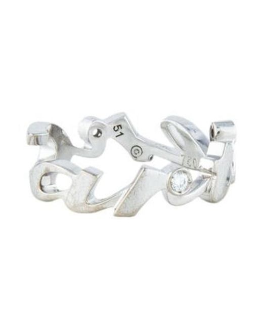 Cartier - Metallic Signature Diamond Ring White - Lyst
