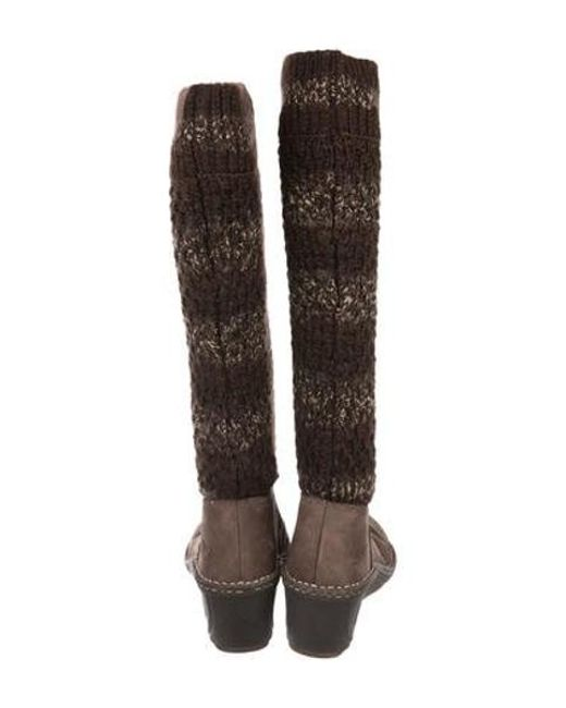 Lyst Ugg Camaya Knit Boots In Brown
