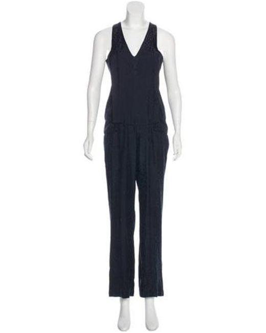 90cfd7404cd1 Thakoon Addition - Blue Leopard Print Sleeveless Jumpsuit - Lyst ...