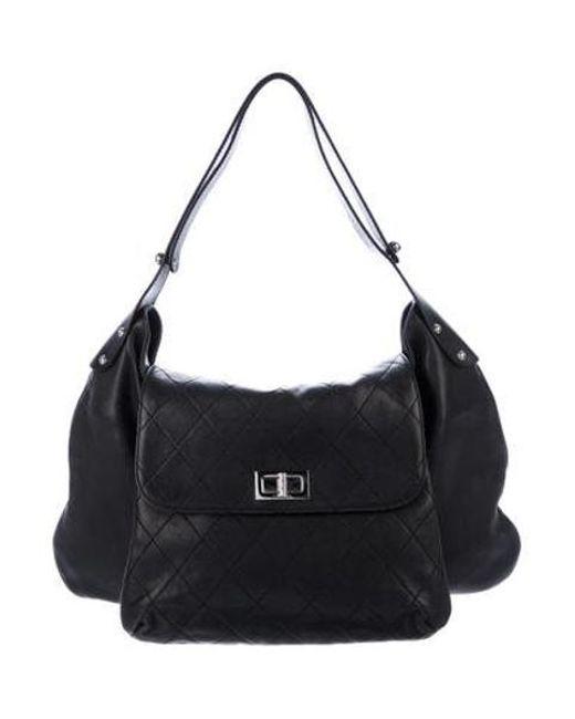 Chanel - Metallic Weekenders Pocket Hobo Black - Lyst