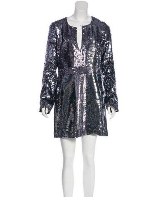 3a93ffa60930 Tory Burch - Gray Sequin Mini Dress W/ Tags - Lyst ...