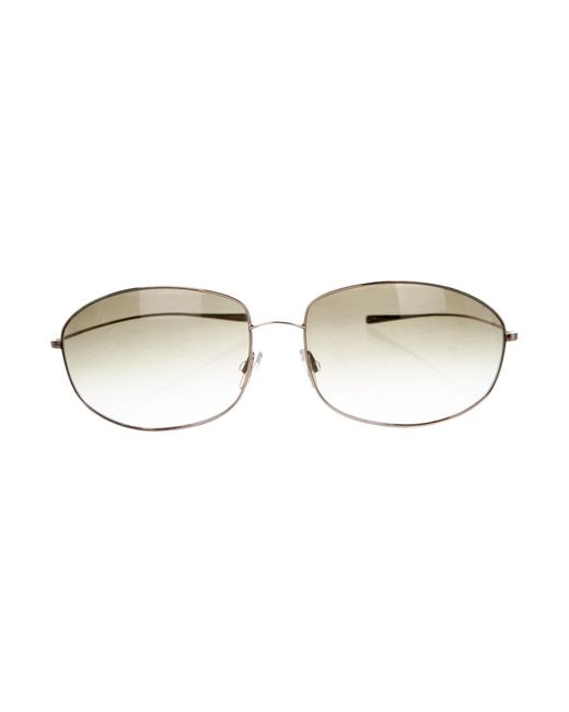 40063d04bc Oliver Peoples - Metallic Continental Gradient Sunglasses Gold - Lyst ...