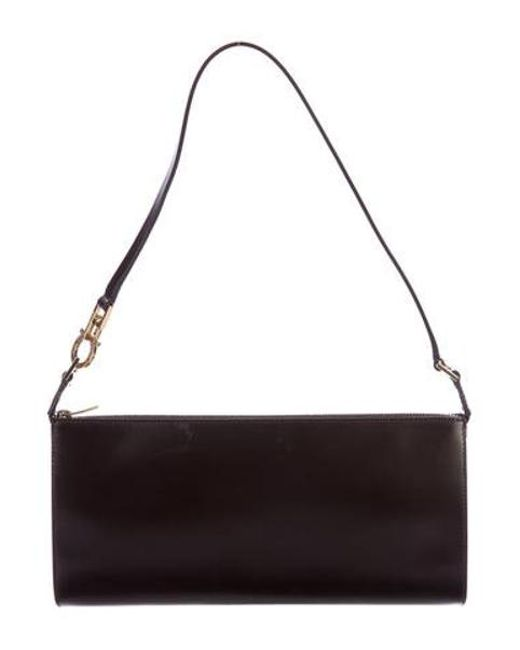 9cfd342a5193 Ferragamo - Metallic Leather Shoulder Bag Gold - Lyst ...