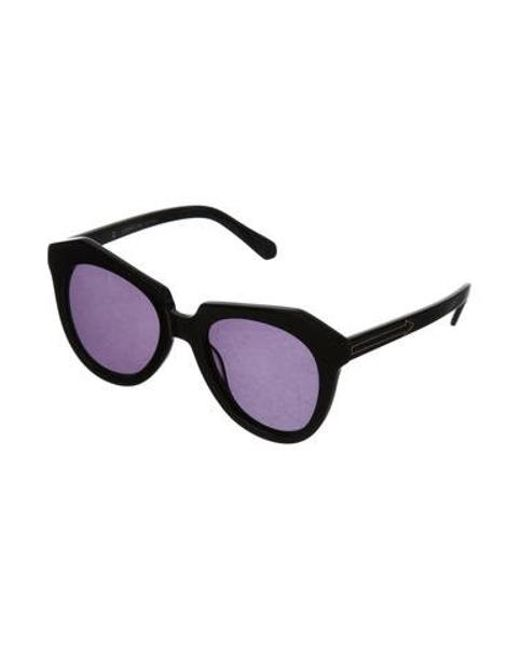 02b8f9a604 ... Karen Walker - Black Number One Oversize Sunglasses - Lyst ...