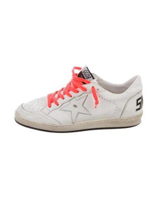 36b143f724085 Golden Goose Deluxe Brand - Metallic Ballstar Low-top Sneakers White for Men  - Lyst ...