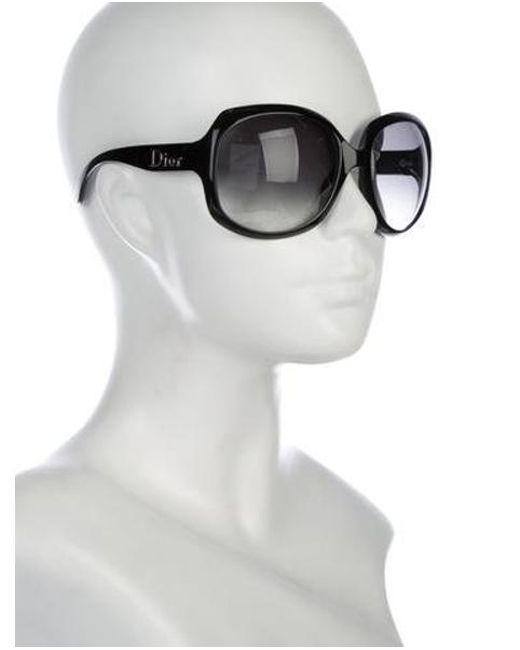 9c231fba0f2 Lyst - Dior Glossy 1 Sunglasses Black in Metallic - Save ...
