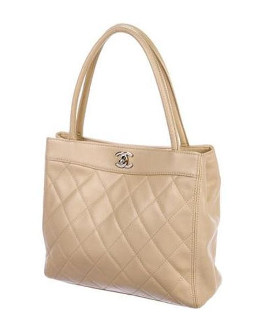 ec48ff6f01fc ... Chanel - Metallic Vintage Lambskin Handle Bag Tan - Lyst ...