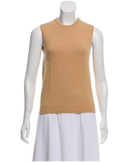 ed9b5ce1115e2 Marc Jacobs - Brown Sleeveless Cashmere Top - Lyst ...