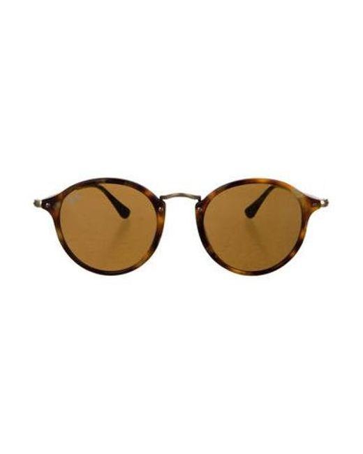 5c09bb32df7 Ray-Ban - Natural Tortoiseshell Round Sunglasses Tan - Lyst ...