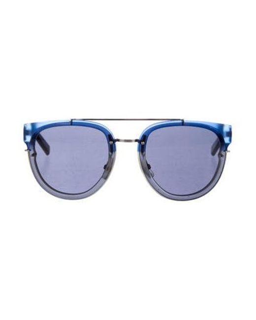 445234ec58 Dior Homme - Metallic Blacktie Tinted Sunglasses Black for Men - Lyst ...