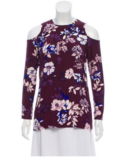 Piamita - Purple Long Sleeve Print Top Plum - Lyst
