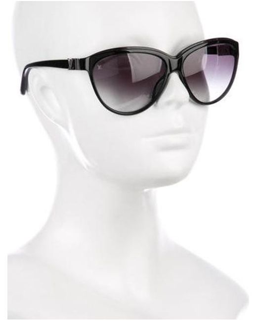 9d041b6ace0b6 ... Louis Vuitton - Metallic Rose Glitter Sunglasses Black - Lyst