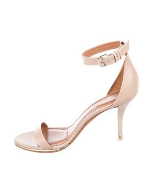 d97fb6660c5 Givenchy - Natural Leather Ankle-strap Sandals Tan - Lyst ...