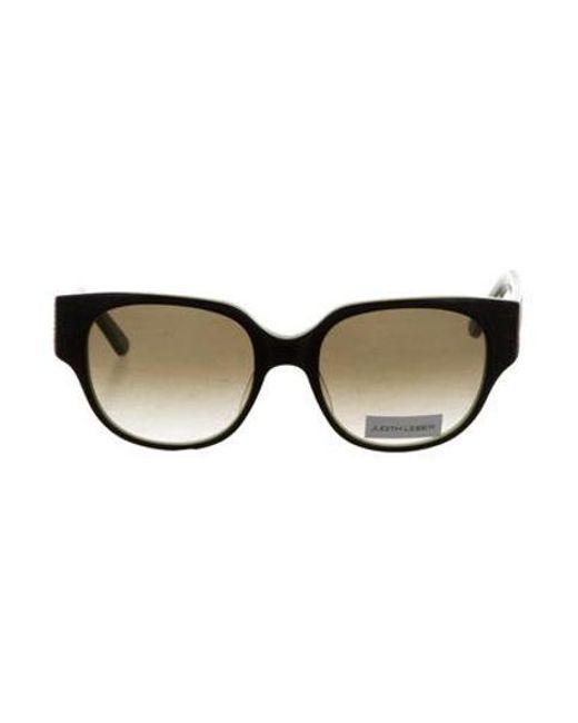 Judith Leiber - Black Jewel-embellished Gradient Lens Sunglasses - Lyst