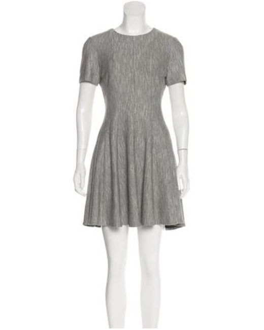 65d15406261 tibi-Gray-Short-Sleeve-Knee-length-Dress-Grey.jpeg