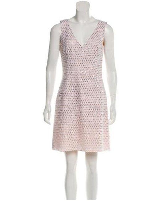 fe289375a6b Michael Kors - Natural Sleeveless Macramé Dress White - Lyst ...