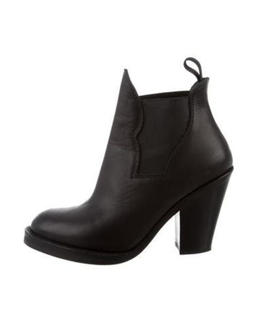 fcdbd5849cdd3 Acne - Black Leather Star Ankle Boots - Lyst ...