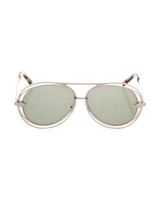76b63e66e363b Karen Walker - Metallic Aviator Tinted Sunglasses Gold - Lyst ...