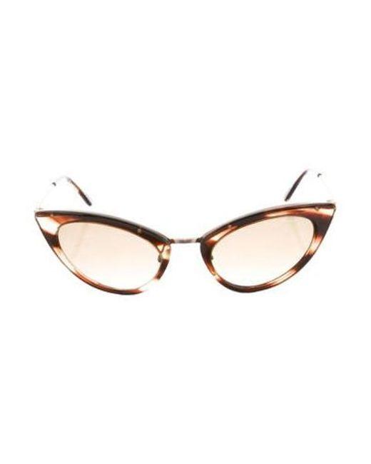 2ac60adc3b3 Tom Ford - Metallic Grace Cat-eye Sunglasses Brown - Lyst ...