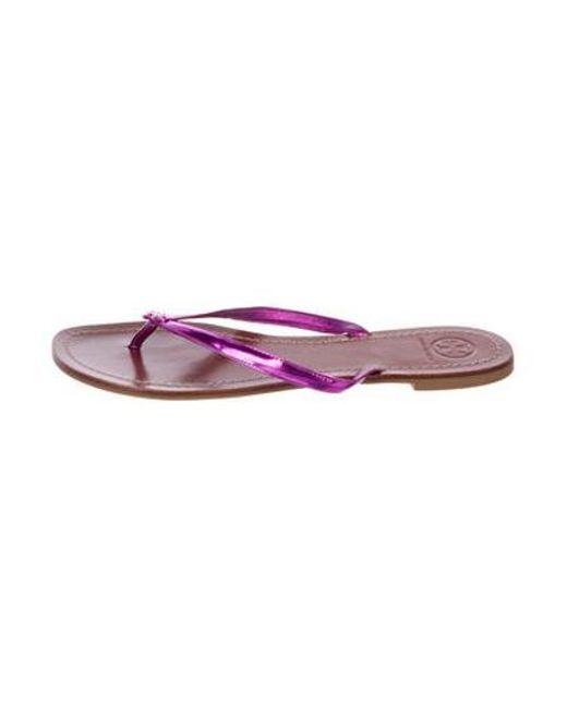 28095c882 Tory Burch - Purple Metallic Thong Sandals Violet - Lyst ...