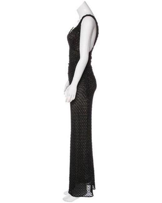 Lyst - Missoni Metallic Evening Dress in Black