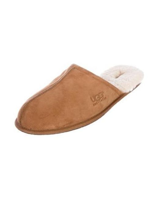 401ec9111a3c ... Ugg - Natural Scuff Shearling-lined Slippers Tan for Men - Lyst ...