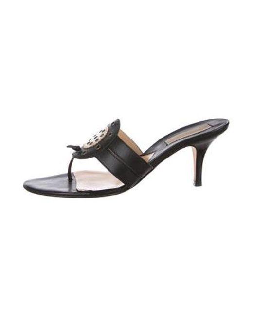 369a5712184 Michael Kors - Black Leather Slide Sandals - Lyst ...