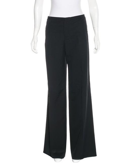 Jean Paul Gaultier | Black Wool-blend Wide-leg Pants | Lyst