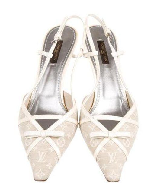 cc72e6389653 ... Louis Vuitton - Natural Monogram Slingback Pumps Neutrals - Lyst ...