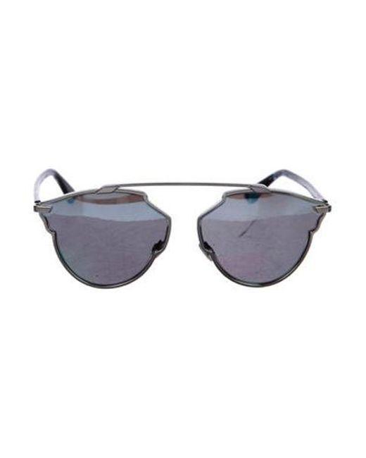 b2cc874b587 Dior - Metallic So Real 1a Tinted Sunglasses Blue - Lyst ...