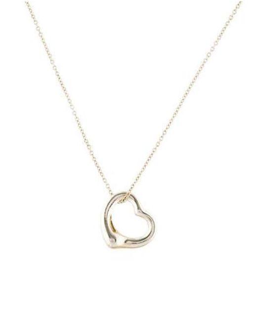 c8e02b967 Tiffany & Co - Metallic Open Heart Pendant Necklace Silver - Lyst ...