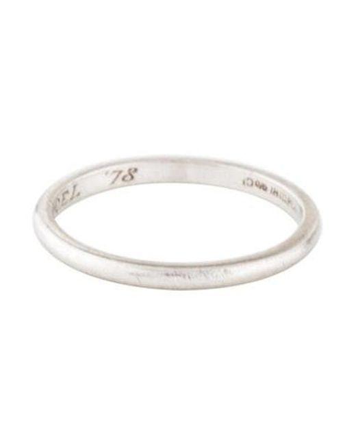 Lyst Tiffany Co Platinum Men S Wedding Band In Metallic For Men