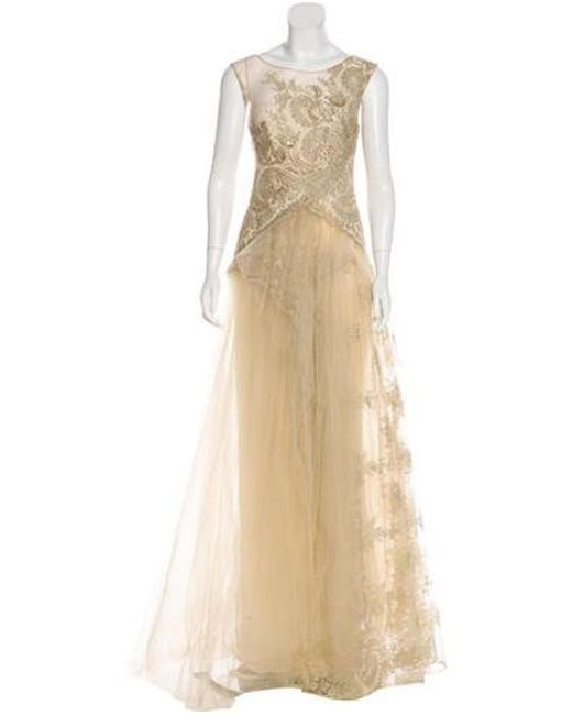 1803d0d68404 Notte by Marchesa - White Embellished Tulle Gown - Lyst ...