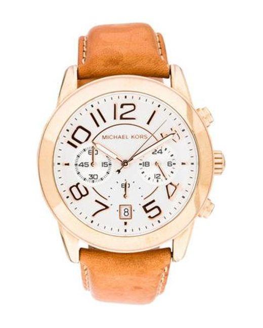 567cdc8f5cd5 Michael Kors - Metallic Mercer Chronograph Watch - Lyst ...