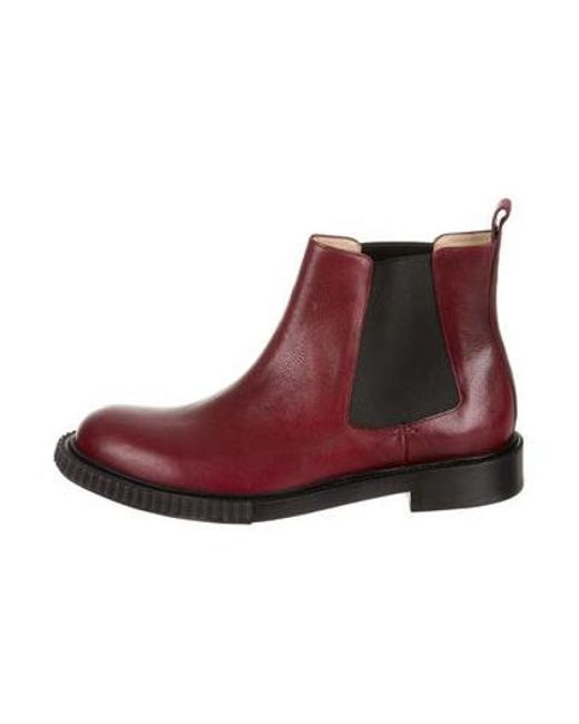 2f53ed7046301 Paul Andrew - Red Pebbled Leather Chelsea Boots Burgundy for Men - Lyst ...