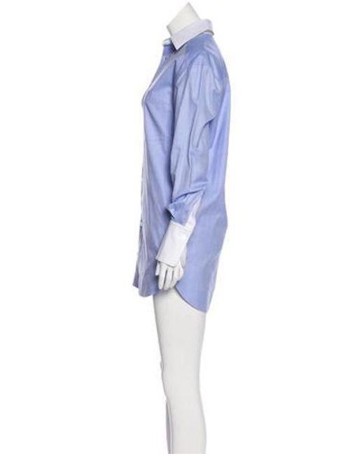 6f7928312a9e ... Alexander Wang - Blue Long Sleeve Button-up Romper W  Tags - Lyst ...