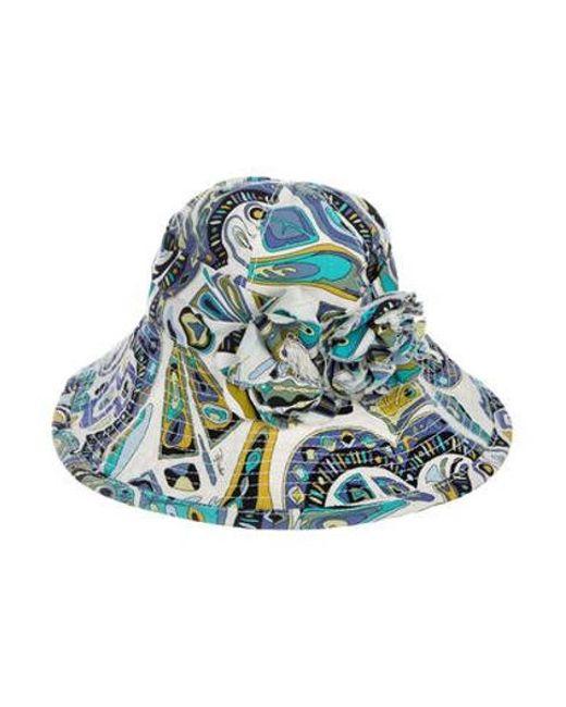 Emilio Pucci - Blue Floral Sun Hat - Lyst ... 367b68fdb10b