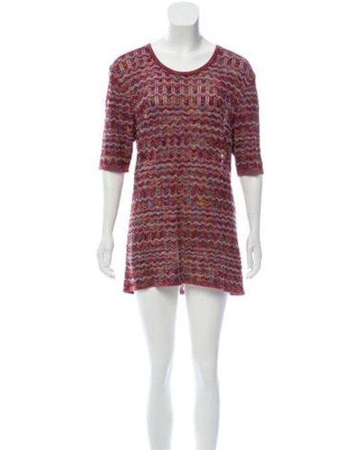 0cbb8a49d8 Missoni Sport - Red Knitted Mini Dress Multicolor - Lyst ...