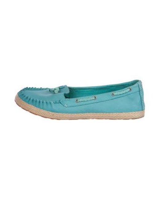 d6cafb8363b Ugg - Blue Suede Round-toe Flats - Lyst ...
