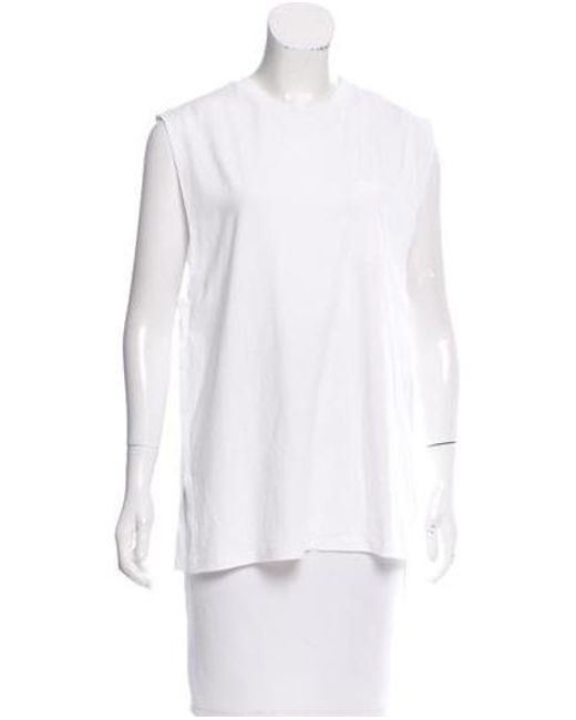 T By Alexander Wang - White Sleeveless Crew Neck Top W/ Tags - Lyst